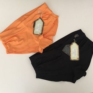 NWT Mika Yoga Wear two pairs of shorts size M/L